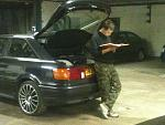 My mate with his 20v quattro reading Haynes :)